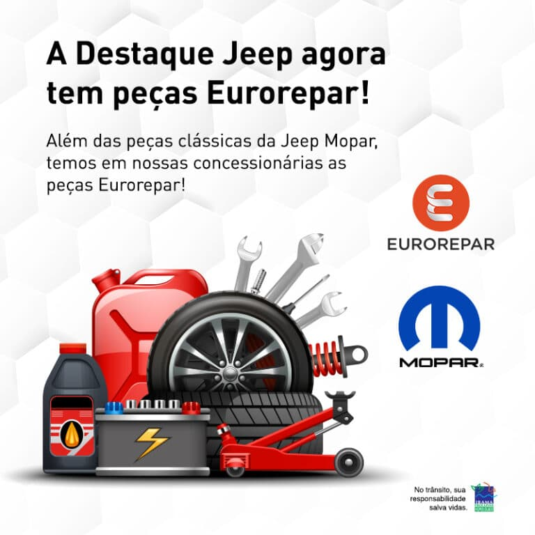 Confira as peças e acessórios Mopar e Eurorepar!